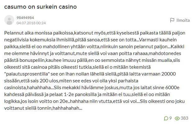 suomi24 casumo huijaus
